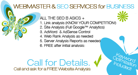 WEBMASTER & SEO SERVICES for BUSINESS