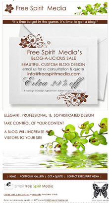 Free Spirit Media Blog Design Sale